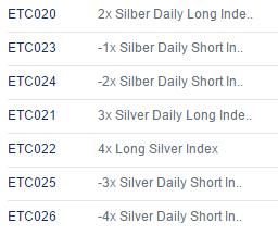 Silber-ETCs
